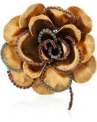 Erickson Beamon | Crystal Flower Brooch | Lyst