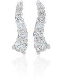 Lynn Ban - Larvae Sterling Silver And Diamond Earrings - Lyst