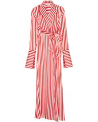 Caroline Constas Jade Long Robe - Red