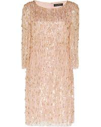 Jenny Packham - Hermione Embellished Mini Dress - Lyst