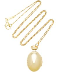 Monica Rich Kosann - Anna 18k Gold Locket Necklace - Lyst