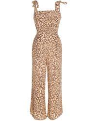 Faithfull The Brand - Elsa Leopard-print Voile Jumpsuit - Lyst