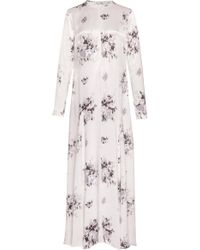 Ganni Cameron Floral-print Satin Maxi Dress - Multicolour