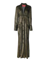 F.R.S For Restless Sleepers - Dedalo Deep V Pajama Dress - Lyst