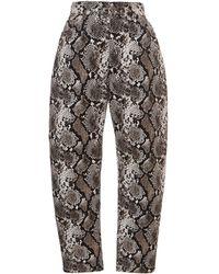 The Attico - Printed Straight-leg Pants - Lyst