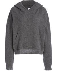 Nanushka Mog Cotton-jersey Hooded Sweatshirt - Gray