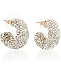 Lele Sadoughi Crystal Huggie 14k Gold-plated Hoop Earrings - Metallic