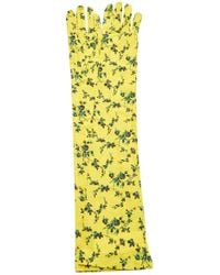 N°21 Printed Long Gloves - Yellow