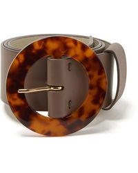 Lizzie Fortunato Louise Leather Belt - Gray