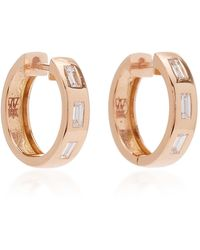 WALTERS FAITH - Baguette Diamond Huggie Earrings - Lyst