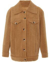 Zeynep Arcay Oversized Shearling Jacket - Brown