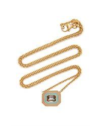 Sig Ward 18k Gold, Enamel And Tourmaline Necklace - Metallic