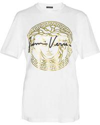 Versace Medusa Signature Print T-shirt - White