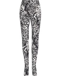 Balenciaga Zebra-print Stretch-crepe Leggings - Black