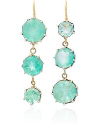 Renee Lewis | 18k White Gold Emerald Earrings | Lyst