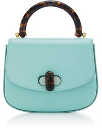Edie Parker - Tortoise-detail Leather Mini Bag - Lyst