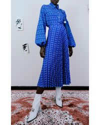 Thebe Magugu Printed Woven Shirt - Blue