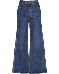 Khaite Gabbie Rigid High-rise Flare-leg Jeans - Blue