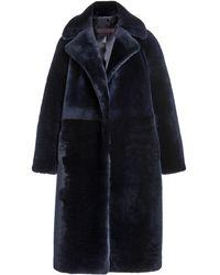 Martin Grant Teddy Bear Shearling Coat - Blue