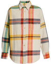 The Elder Statesman Tartan Woven Shirt - Multicolour