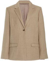 Totême Stretch-wool Blazer - Natural