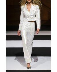ROTATE BIRGER CHRISTENSEN Rotie High-rise Satin Trousers - White
