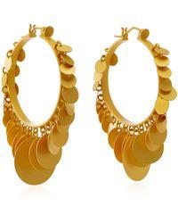 Paula Mendoza Embera Gold-plated Brass Hoop Earrings - Metallic