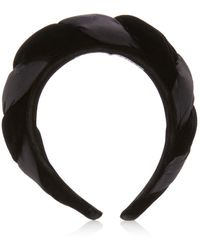 Sophie Buhai Braided Silk Velvet Headband - Black