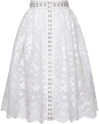 Lena Hoschek Ophelia Cotton Midi Skirt - White