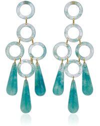 Cult Gaia Bibi Small Marbled Acrylic Earrings - Blue