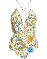 Lenny Niemeyer - Plunge Crossover Back One Piece Swimsuit - Lyst