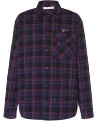 Off-White c/o Virgil Abloh Flannel Check Shirt - Purple