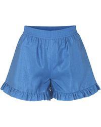 Stine Goya Joselyn Ruffle Hem Short - Blue