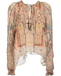 Chufy Arnaq Printed Crinkled Georgette Top - Multicolour