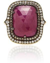 Sylva & Cie - 18k Gold, Ruby And Diamond Ring - Lyst