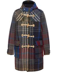 Missoni Hooded Checked Wool Duffle Coat - Multicolour