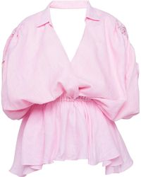 Leal Daccarett Getsemani Linen Top - Pink