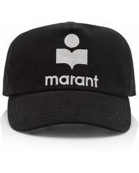 Isabel Marant Tyrony Logo-embroidered Cotton Baseball Cap - Black