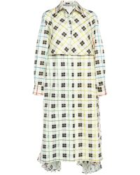 Silvia Tcherassi Birdie Cotton Trench Coat - Multicolor