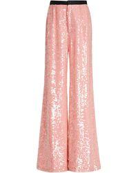 Markarian Chloris Sequined Chiffon Wide-leg Pants - Pink
