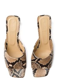 Aeyde Katti Snake-effect Leather Sandals - Multicolour
