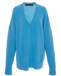 Sally Lapointe - Airy Cashmere Silk V-neck Sweater - Lyst