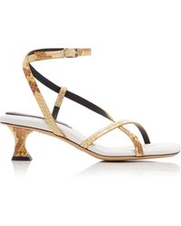 Proenza Schouler Snake-effect Leather Sandals - White