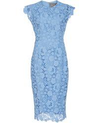 Lela Rose - Lace Midi Dress - Lyst