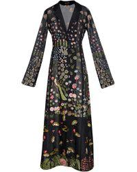 Rahul Mishra Nishat Embroidered Silk Long Jacket - Black