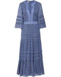 Temperley London - Suki Bell Sleeve Chiffon Dress - Lyst