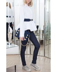 Alexis Mabille - Pleated Peplum Button-up Shirt - Lyst