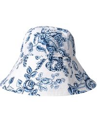 Erdem Floral-print Bucket Hat - White
