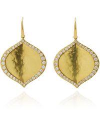 Amrapali Pallavi 18k Gold Diamond Earrings - Metallic