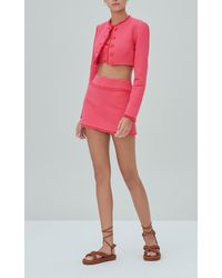 Alexis Madelyn Cropped Cotton Tweed Jacket - Pink